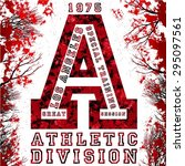 athletic division tshirt... | Shutterstock .eps vector #295097561