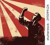 revolution poster  worker... | Shutterstock .eps vector #295099124