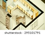 isometric partial architectural ... | Shutterstock . vector #295101791
