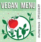 vegan menu | Shutterstock .eps vector #295103639