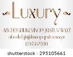 copper gradient font | Shutterstock .eps vector #295105661