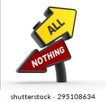 3d render direction sign. all... | Shutterstock . vector #295108634