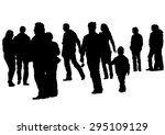 big crowds people on white...   Shutterstock .eps vector #295109129
