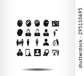 business man icons | Shutterstock .eps vector #295110695