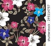 floral seamless pattern  ... | Shutterstock .eps vector #295114757