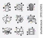 cinema line infographic... | Shutterstock .eps vector #295115051