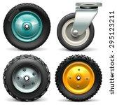 vector wheelbarrow wheel | Shutterstock .eps vector #295123211
