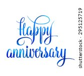 blue colored happy anniversary... | Shutterstock .eps vector #295125719