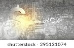 abstract image with financial... | Shutterstock . vector #295131074