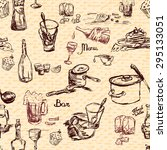 sketch style seamless pattern...   Shutterstock . vector #295133051