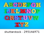 colorful plastic alphabet... | Shutterstock . vector #295146971