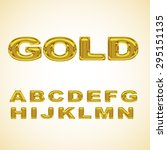 alphabet stylized gold | Shutterstock . vector #295151135
