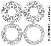 set of celtic knotting rings. 4 ...   Shutterstock .eps vector #295151294