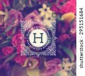vintage monogram logo template... | Shutterstock .eps vector #295151684