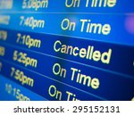 airport flight cancelled....   Shutterstock . vector #295152131