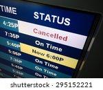 flight cancelled. airport... | Shutterstock . vector #295152221