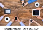 group of business people on... | Shutterstock . vector #295153469