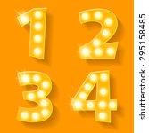 vector yellow lamp alphabet for ... | Shutterstock .eps vector #295158485