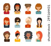 circle of flat icons on white... | Shutterstock .eps vector #295164431