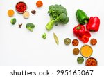 spices and vegetables for... | Shutterstock . vector #295165067