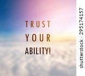inspiration motivational life... | Shutterstock . vector #295174157