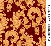 seamless paisley pattern in... | Shutterstock .eps vector #295175441