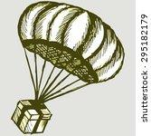 gift box parachute. vector image | Shutterstock .eps vector #295182179