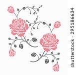 rose motif vector for design. | Shutterstock .eps vector #295186634