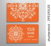 business card  decorative... | Shutterstock .eps vector #295193135
