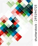 square shape mosaic pattern... | Shutterstock .eps vector #295194725