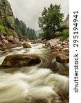a monochrome nature landscape... | Shutterstock . vector #295194941