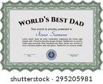 world's best dad award template.... | Shutterstock .eps vector #295205981