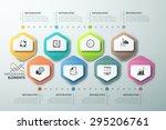 modern infographics timeline... | Shutterstock .eps vector #295206761