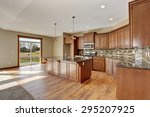 lovely kitchen with bar island  ... | Shutterstock . vector #295207925