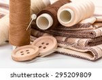 Brown Sewing Kit  Buttons ...