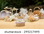 wedding favors in the garden | Shutterstock . vector #295217495