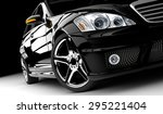 Stock photo a modern and elegant black car illuminated 295221404