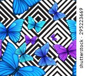 vector seamless pattern with... | Shutterstock .eps vector #295223669