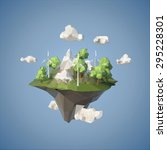 island floating in the sky with ... | Shutterstock .eps vector #295228301