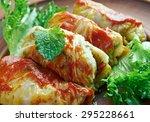 kelem dolmasi   stuffed cabbage ...   Shutterstock . vector #295228661