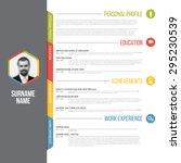 vector minimalist cv   resume... | Shutterstock .eps vector #295230539