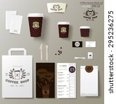 coffee shop corporate identity... | Shutterstock .eps vector #295236275