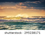 Sunrise And Shining Waves In...