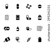 vector black pills icons set on ... | Shutterstock .eps vector #295241231