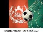 afghanistan symbol soccer ball... | Shutterstock . vector #295255367