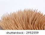 wooden toothpicks on white... | Shutterstock . vector #2952559