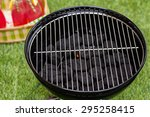 summer picnic with small... | Shutterstock . vector #295258415