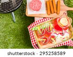 summer picnic with small...