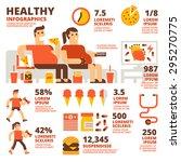 healthy infographics | Shutterstock .eps vector #295270775