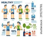 healthy infographics | Shutterstock .eps vector #295270781